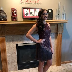 Sherri Hill wine color dress PERFECT condition!!